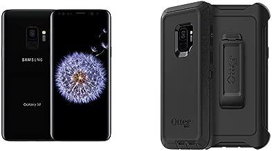 Samsung Galaxy S9 G960U 64GB Unlocked 4G LTE Phone w/ 12MP Camera - Midnight Black Bundle with OtterBox Defender Series Case for Samsung Galaxy S9 - Frustration Free Packaging - Black