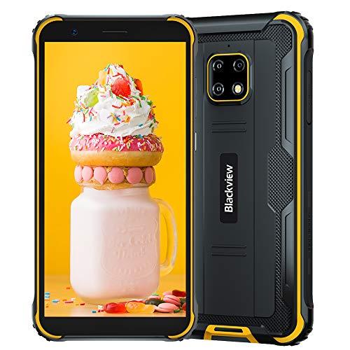 Blackview BV4900 PRO (2020), 5.7  Android 10 4G Smartphone Robusto, 4GB RAM 64GB ROM, Fotocamera Impermeabile 13 MP + 5 MP, Batteria da 5580 mAh, Doppia SIM GPS NFC, Gialla