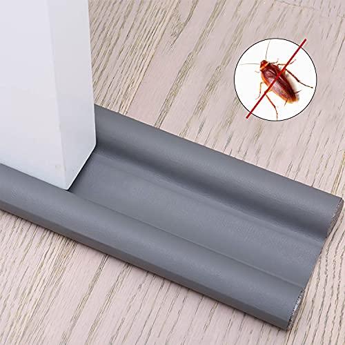 Xnuoyo Burlete para Puertas Tope Aislante para La Puerta Se Utiliza en Dormitorios, Cocinas y Baños para Prevenir Eficazmente el Polvo, Los Insectos, el Viento y el Aislamiento Acústico (Gris)