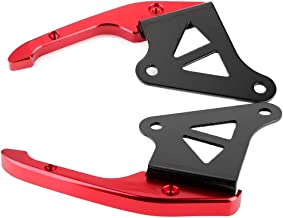 Rear Grab - Universal Aluminum Motorcycle Pillion Passenger Grab Bar Rear Seat Rail Handle Kit (Red, Blue, Gold) (Color : Red)