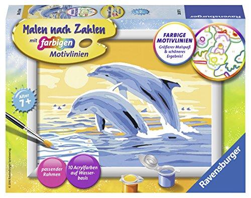 Ravensburger Malen nach Zahlen 28017 - Freunde des Meeres - Für Kinder ab 7 Jahren