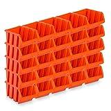 25 Stück Sichtlagerboxen Größe 4 - rotbraun (23 x 16 x 12 cm)