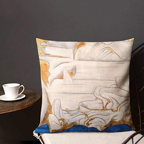 Funda de cojín para el hogar, sofá, cama para mamá y papá, decoración de oro y azul art decó, almohadas y almohadas lumbares, cubierta de tromo, café y té