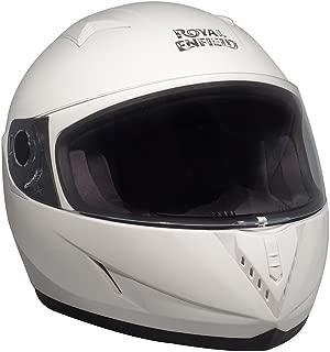 Royal Enfield Gloss White Full Face Helmet Size (XL)62 CM (RRGHEH000057)