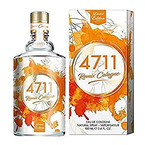 4711® Remix Cologne Orange I Limited Edition - Eau de Cologne - spritzig - laut - frisch - die facettenreiche Orange saftig neu ge-remixt! I 100ml Natural Spray Vaporisateur