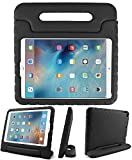 Kids Friendly Case for Amazon Kindle Fire 7 2015/2017, Light-Weight EVA Soft Foam Durable Rugged Shockproof Kidsproof Foldable Convertible Handle Kickstand Cover for Teenages - Black
