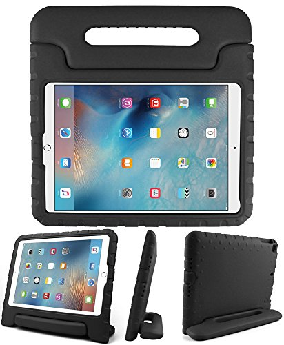 Kids Friendly Case for iPad Mini 1st Gen, Light-weight EVA Soft Foam Durable Rugged Shockproof Kidsproof Foldable Convertible Handle Kickstand Cover for Teenagers - Black
