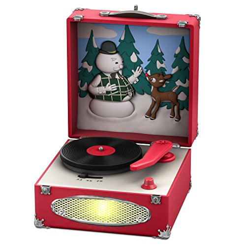 Hallmark Keepsake Christmas Ornament 2018 Year Dated, Rudolph the Red-Nosed Reindeer Record Player With Music and Light