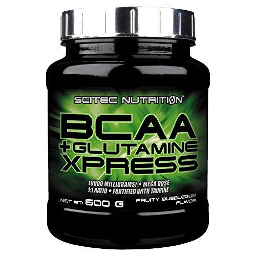 Scitec Nutrition BCAA+Glutamine Xpress Bubble Gum, 1er Pack (1 x 600 g)