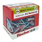 Fischer - Tacos Duopower con tornillo, gris, 544016