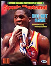 Dominique Wilkins Autographed Sports Illustrated Magazine Cover Atlanta Hawks Beckett Bas #H44481