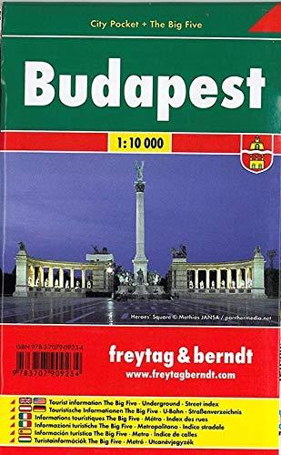 Budapest, Stadtplan 1:10.000, City Pocket + The Big Five (freytag & berndt Stadtpläne)