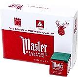 Master Billiard/Pool Cue Chalk Box, 12 Cubes, Spruce