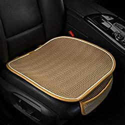 RETAIN THE VALUE OF YOUR VEHICLE - Inevitable Stains, Scar, and Wear on Vehicle Seats Make Cars Look Cheap and Less Valuable, But This Car Seat Covers Protector Keeps Things Looking New! USE IN ALL SEASONS - We Use Healthy Breathable Ice Silk Materia...