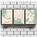 SYBS Abstrakte Moderne HD druckbare Weltkarte Leinwand