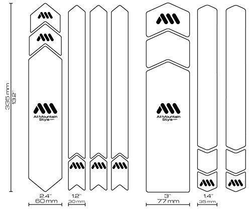 All Mountain Style Honeycomb Rahmenschutz XXL – vergessen Steinschläge und Kratzer am Bike - 3