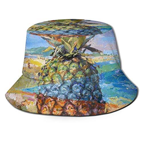 Yearinspace Sombrero de cubo transpirable superior plana Possum colgar en allí bebé Unisex divertido cubo sombrero verano pescador sombrero