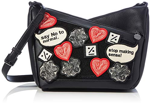 Desigual Accessories PU Across Body Bag, Donna, Nero, U