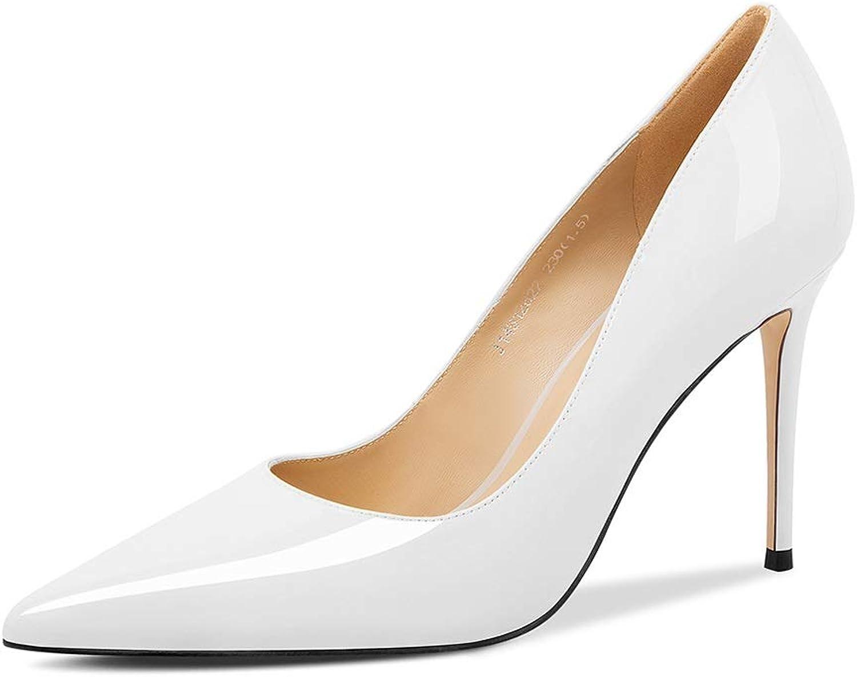 Damen High Heels Frühling Damenschuhe Damenschuhe Sexy Stiletto Heels Flacher Mund wies Schuhe Arbeitsschuhe Party Schuhe (Farbe   BEIGE, Größe   38)  heiße Rabatte