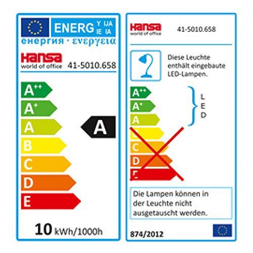Hansa Magic Plus LED-Schreibtischlampe, Schwarz