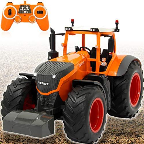 Fendt Traktor 1050 Vario ferngesteuert OFFIZIELL LIZENZIERT (1:16 2,4Ghz) RC Motorsound mit Sound Beleuchtung und verschiedenen Fahrfunktionen (Fendt Traktor Kommunal)