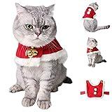 Smoro Inverno Gatto Costumi Mantello Mantello Piccolo Animale Domestico Cucciolo Gatto Cappotto Natale Gatto Vestiti Pet Dog Cat Babbo Natale Costume