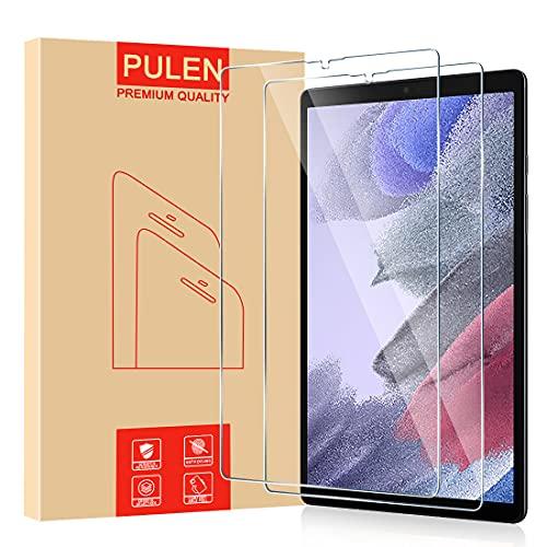 PULEN Panzerglas für Samsung Galaxy Tab A7 Lite Schutzfolie [2 Stück], HD Panzerfolie Glass [9H Festigkeit] [Anti-Kratzen][Anti-Bläschen] Klar folie Bildschirmschutzfolie (8,7 Zoll, SM-T225)