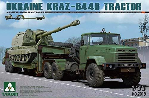 TAKOM tak2019–1/35 Kraz 6446 Truck with Trailer