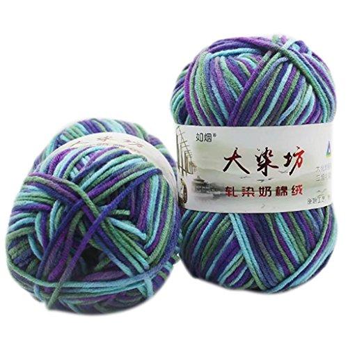 GROOMY Wool, 50g 5 Strands Milk Cotton Knitting Yarn Thick Crochet Warm Baby Sweater Scarf-22