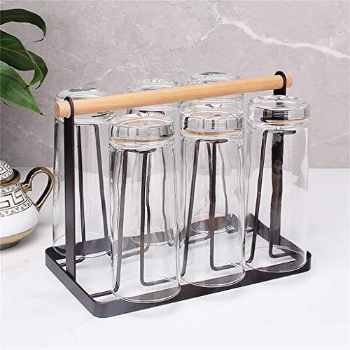 AXAA Arbeitsplatte Weinglasständer, halten 6 Gläser perfekt für Wohnkultur & Küche Lagerregal, Bar, Weinkeller Schrank Speisekammer Holz & Metallregal