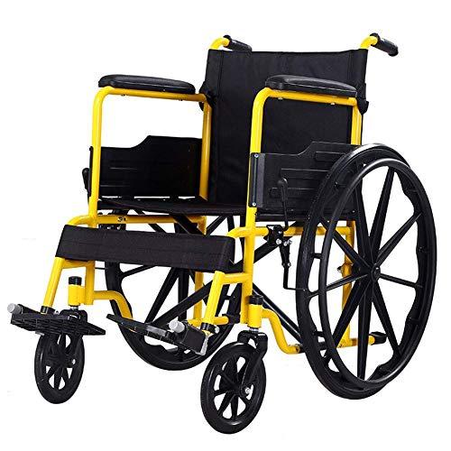 Mnjin Rollstuhltransportstuhl Leichte zusammenklappbare Schubkarre Mehrzweckschwammhandlauf Praktische Reinigung Transportstühle flip/C