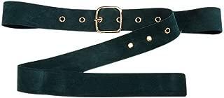 Woolen Pin Buckle Belt Simple Women's Dress Shirt Clothes Waist Belt, Dark Green