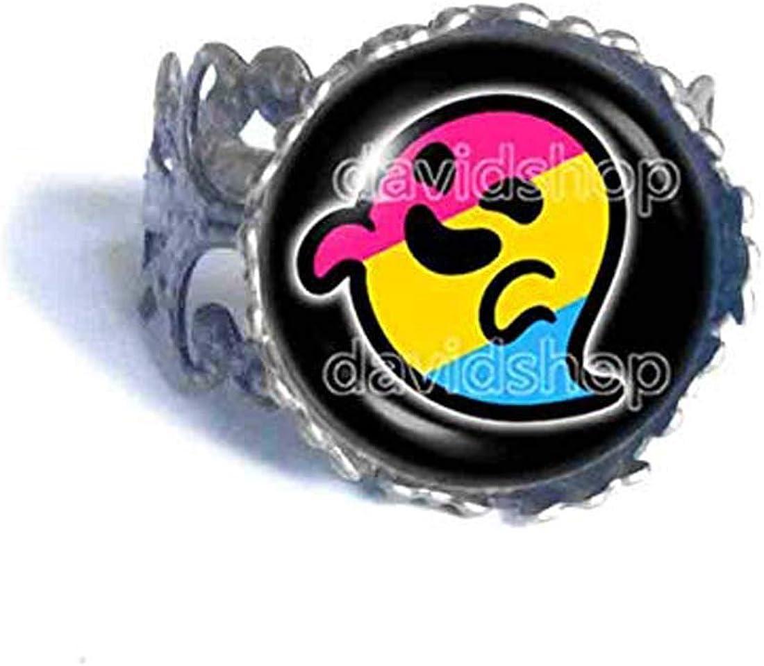 Pan Pride Flag Gaysper Ring Cosplay Pansexual LGBT LGBTQ Cute Fashion Jewelry