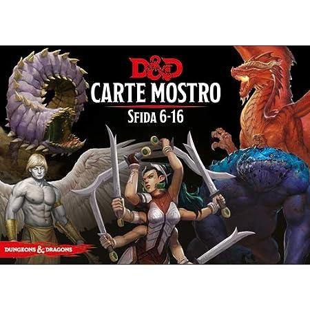 Asmodee Italia- Dungeons & Dragons-5a Edizione-Carte Mostro Sfida 6-16, Colore, 4033