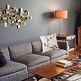 Federa decorativa per cuscino Stilizzato fioritura giapponese ciliegio albero pittura ad acquerello effetto stampa artistica Desig Fodera per cuscino quadrato per divano letto di casa 40x40cm