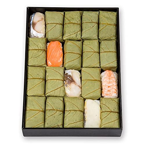 ゐざさ ( いざさ ) 柿の葉寿司 5種 20個入(さば さけ あじ たい えび) / お取り寄せ 寿司 / お取り寄せグルメ / 寿司 ギフト