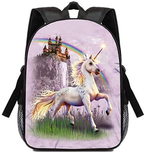 ARR 3D School Backpack, Zippered School Bag Fashion Printing Sports Casual Backpack Students Bookbag Children Teen Backpacks Unisex, Rainbow, 34 * 25 * 11cm