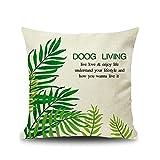 Beydodo Cojines Sofa,Patrón de Hojas Doog Living,Funda...