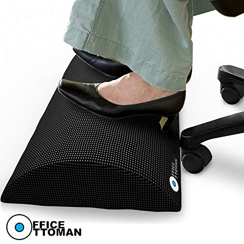 Foot Rest Under Desk Non-Slip Ergonomic Footrest Foam Cushion -...