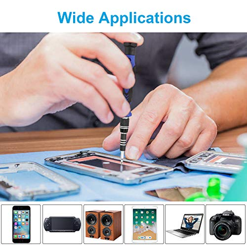 XOOL 62 in 1 Precision Screwdriver Kit, with 56 Bits Screwdriver Set, Magnetic Driver Kit with Flexible Shaft, Extension Rod for Mobile Phone, Smartphone, Game Console, Tablet, PC