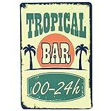 Tropical Bar Blechschild Retro Blech Metall Schilder Poster Deko Vintage Kunst Türschilder Schild...