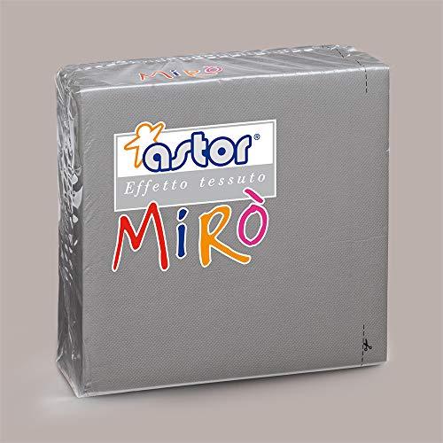 LUCGEL Srl 80 Pezzi Tovaglioli di Carta Colorati GRIGIO MIRO' ASTOR 38x38 Grey Napkins