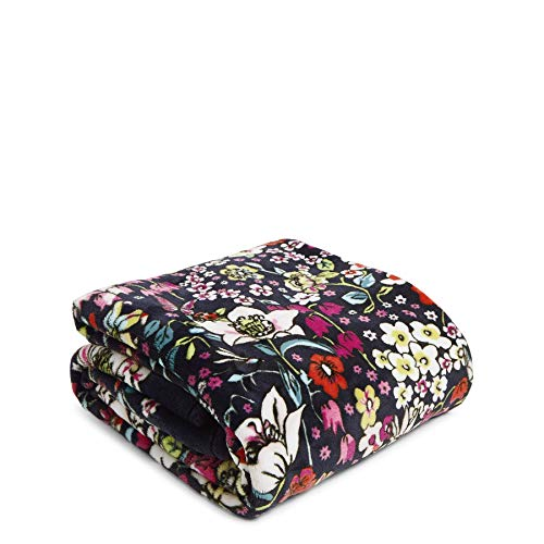 Vera Bradley Women's Fleece Plush Throw Blanket D cor, Itsy Ditsy, 80 x 50 US