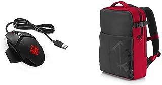 HP Omen Reactor - Ratón para Gaming (conmutador óptico, Respuesta ultrarrápida, Cable metálico, 16,8 Millones de Colores RGB) + OMEN 4YJ80AA - Mochila Gaming para portátil hasta 17,3