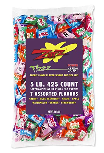 Zotz Fizzy Candy, Assorted Flavors, 425 Count Bag