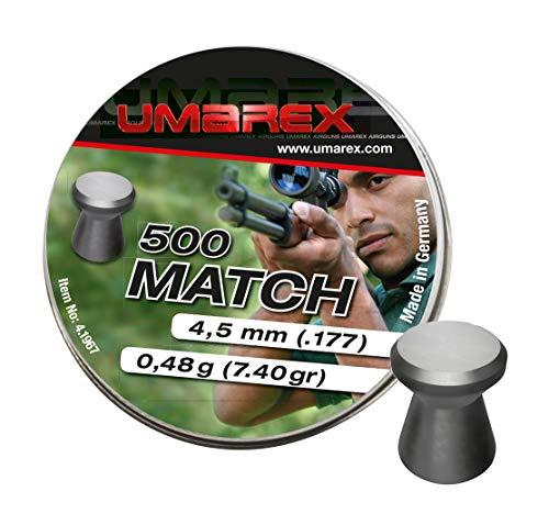 Umarex Match Premium Flachkopf-Diabolo 4,5mm Luftgewehrkugeln Diabolos für Luftdruckwaffen, Luftgewehr und Luftpistole Preiswerte Trainingsmunition von Eva Shop