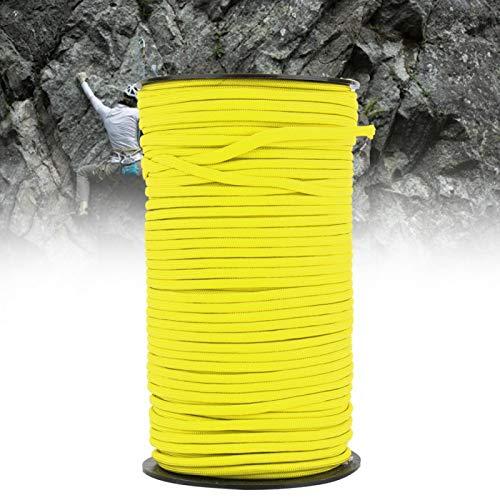 FOLOSAFENAR Cuerdas de Supervivencia Resistente al Aire Libre Núcleo Militar estándar Cordón de paracaídas Durable con estándar Militar 7 núcleos para Supervivencia al Aire(Yellow)