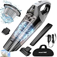 Wakyme Wet/Dry Noise Reduction Bagless Portable Handheld Vacuum Cleaner (Black)