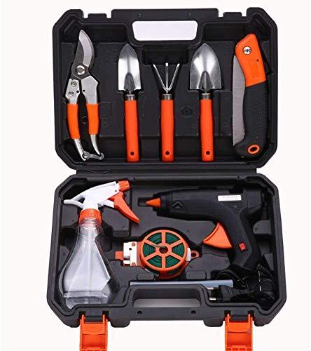 TONGSH Eine Reihe Von Gartenarbeit und Gartengeräte, Hardware-Toolbox, elektrische Klebepistole Set, Gartenwerkzeuge, Mehrzweckkleinteile