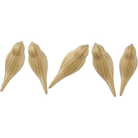 DesignSter Wood Grain Bird Coat Hooks - Premium Resin Creative Wall Mounted Birds Decorative Art Decor Hat Towel Bag Hanger Gift for Home,Living Room, Bedroom, Shop, Set of 5